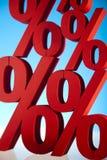 Red percentage symbol Stock Image