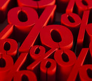 Red percentage symbol Royalty Free Stock Photography