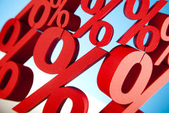 Red percentage symbol, colorful tone Stock Photography