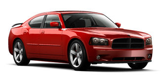 Red perfomance car Royalty Free Stock Photo