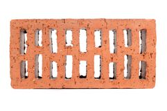 Red Perforated Brick Stock Photo