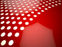 Red perforated surface Royalty Free Stock Images