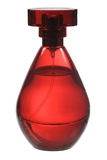 Red perfume bottle Royalty Free Stock Photos