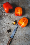 Red Persimmons Royalty Free Stock Images