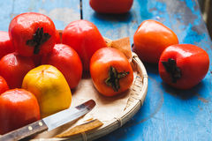 Red Persimmons Stock Image