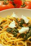 Red pesto dish. Delicious pasta dish with red pesto sauce Stock Photo