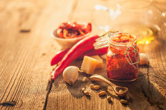 Red pesto Royalty Free Stock Photography