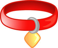Red pet collar icon or symbol Stock Images