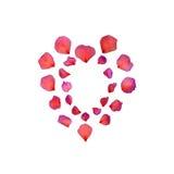 Red Petal Heart Beauty Stock Photos