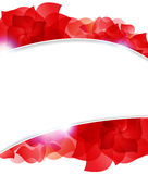 Red petals frame Stock Photography