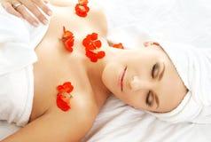 Red petals spa #2 Royalty Free Stock Photos