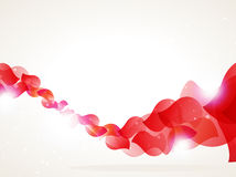 Red petals wave Royalty Free Stock Photos