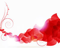 Red petals wave Stock Images