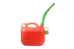 Red petrol can Stock Photo
