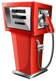 A red petrol pump Stock Photo
