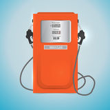 Red petrol station. Royalty Free Stock Images