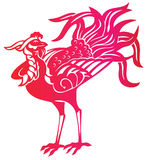 Red phoenix. Mystic vintage picture of  red beautiful phoenix Royalty Free Stock Image