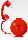 Red phone. Vector illustration of a red telephone stock illustration