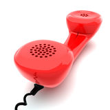 Red phone. Receiver isolated on white background Stock Photography