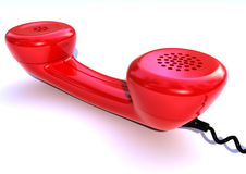 Red phone. Receiver isolated on white background Royalty Free Stock Image