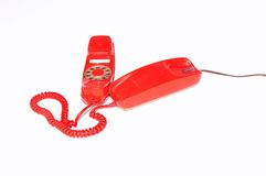 Red Phone. Red phone isolated on white background Royalty Free Stock Photos