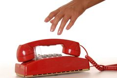 Red Phone 2 Royalty Free Stock Photography