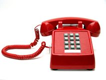 Red Phone. On a white background Royalty Free Stock Image