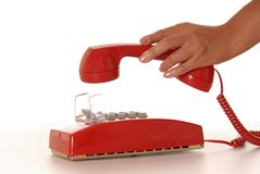 Red Phone 5 Stock Photography