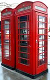 Red Phone. London Telephone Booths royalty free stock images