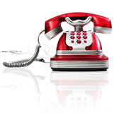Red Phone. This is a red phone on a white background royalty free stock photo
