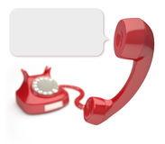 Red Phone Balloon. Red phone with focus on the balloon from speaker stock illustration