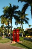 Red Phone Booth 1. English style phone booth in Aruba Royalty Free Stock Image