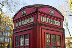Red phone booth Stock Photography