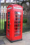 Red Phone Booth. In London royalty free stock photography