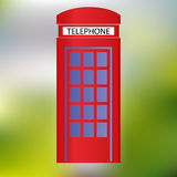Red phone booth abstract green background eps10 Royalty Free Stock Images