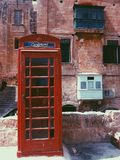 Red phone booth. British phone booth Royalty Free Stock Photos