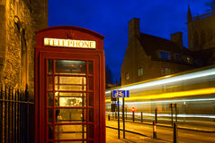 Red Phone Booth in England Stock Image