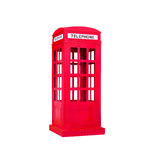 Red phone booth on isolated white background Stock Image