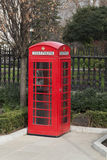 Red phone booth, London. Royalty Free Stock Photography
