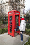 Red phone booth, London. Royalty Free Stock Photos