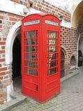 Red phone booth Royalty Free Stock Photos