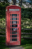 Red phone booth Royalty Free Stock Photography
