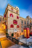 Red phone booth in Valletta,Malta.  Stock Photography