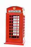 Red phone booth  on white background Stock Photos