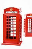 Red phone booth  on white background Royalty Free Stock Images