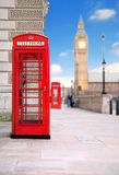 Red phone box. A photography of a red phone box in London UK Stock Image