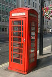 Red phone box. The famous red London phone box Royalty Free Stock Image