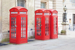 Red phone box Royalty Free Stock Photography