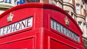 Red phone box in London. Royalty Free Stock Image