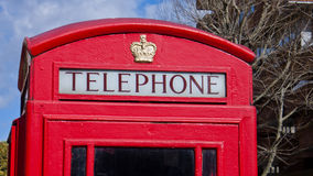 Red phone box in London. Stock Photo